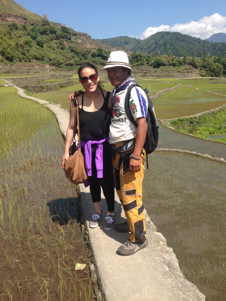 Palayan, or rice terrains in one of the bed of the famous rice terraces