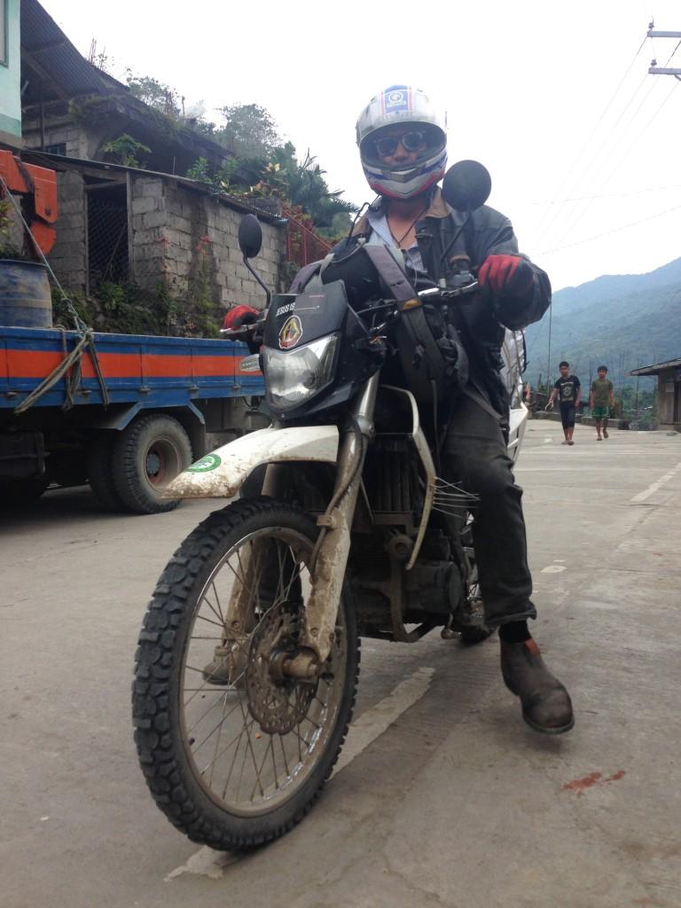 Biker on the road back to Tinglayan
