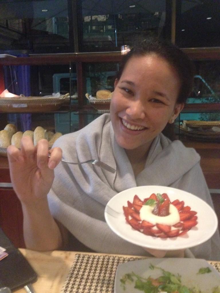 Fresh Baguio Strawberries and Cream
