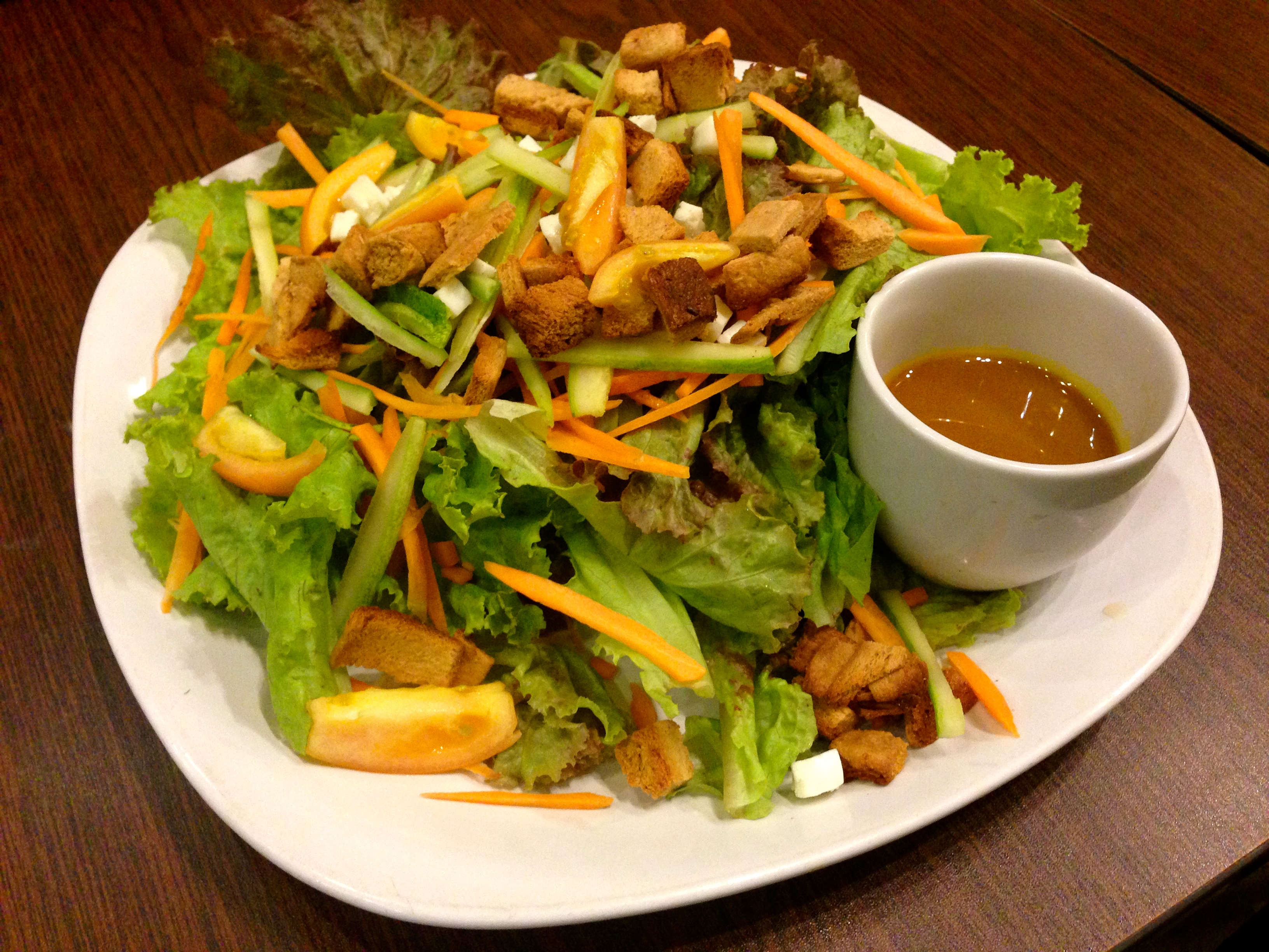 Upon arrival, we were greeted by Fresh Start Organic Cafe, the only certified organic restaurant and cafe in Bacolod with their signature Green Salad