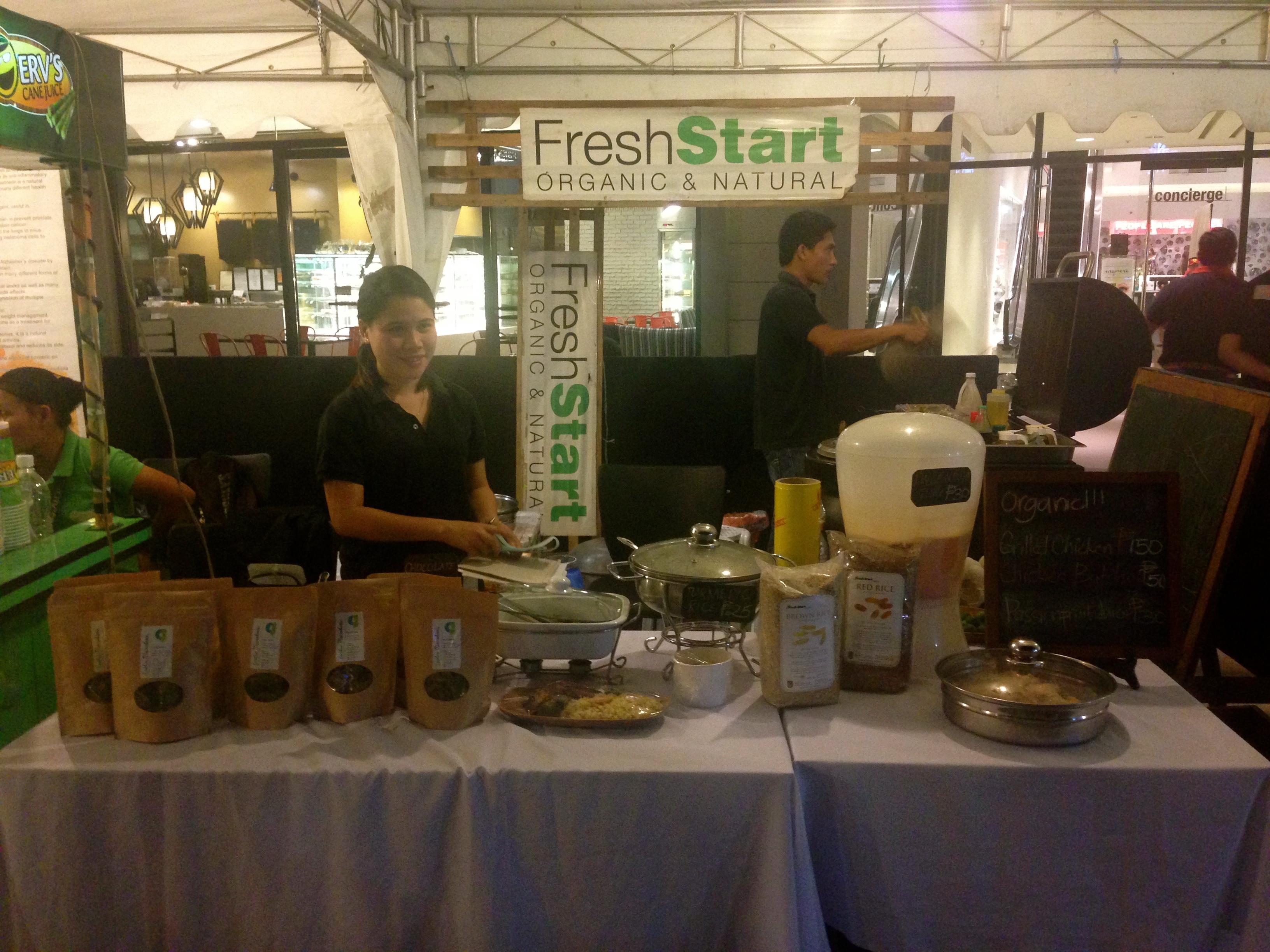 Fresh start organic in the Ayala weekend Market