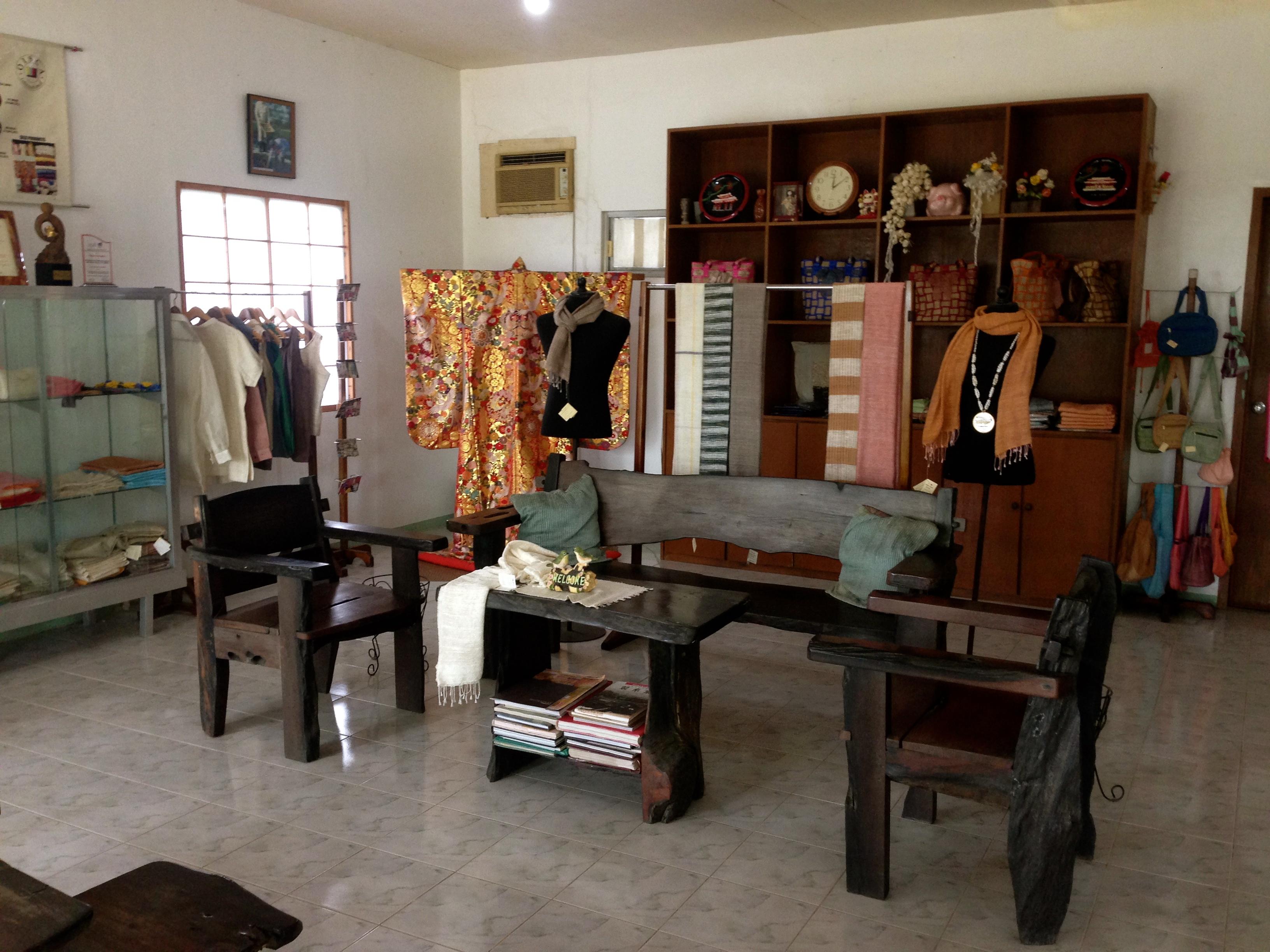 Bacolods Silk Farm Show room