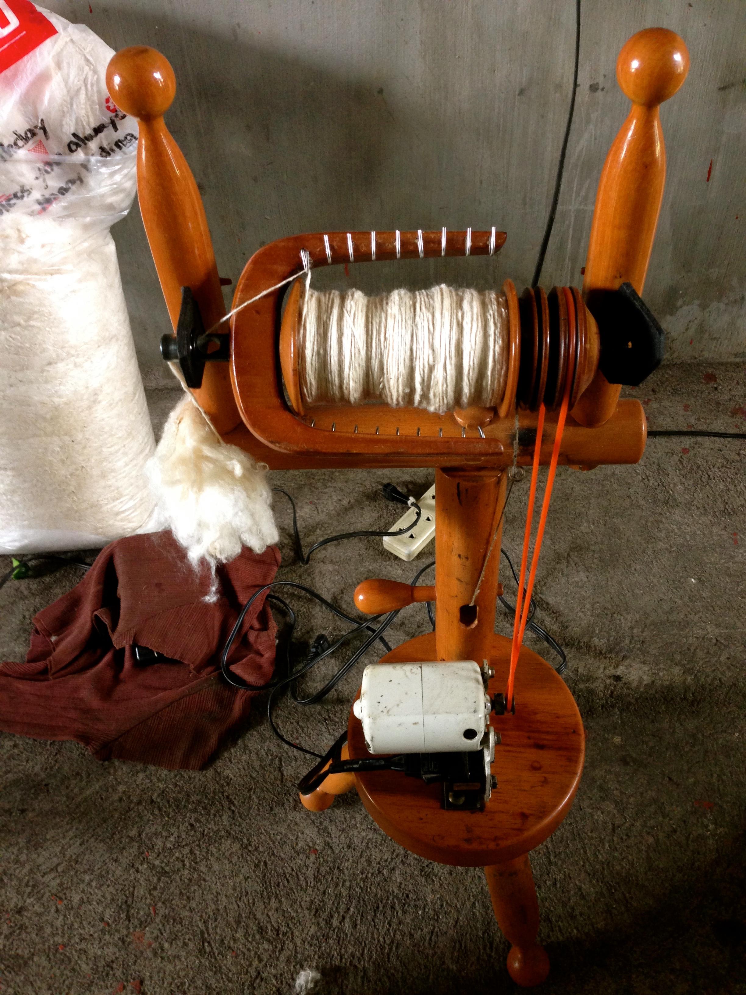 Traditional silk weaving machine